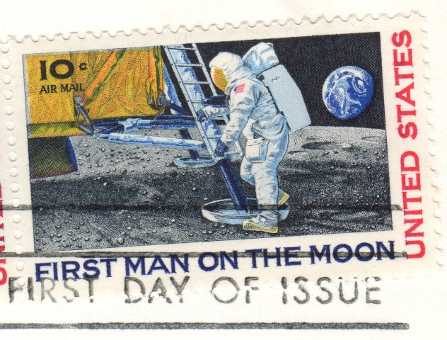 First Man on the Moon Ersttagsbrief 1a Klein